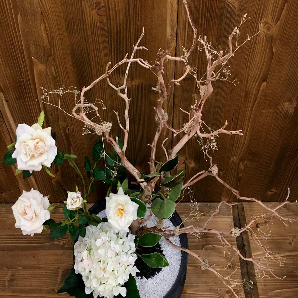 Nov 2016 Composizione con i fiori stabilizzati